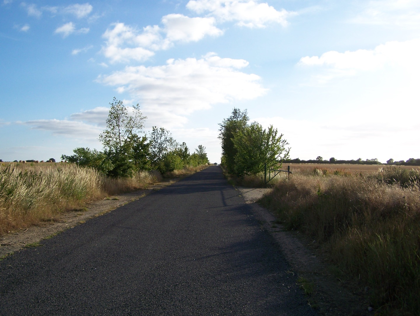 Middle section of 08:26 runway, currently a minor road, looking north-east 14:07:2006.JPG