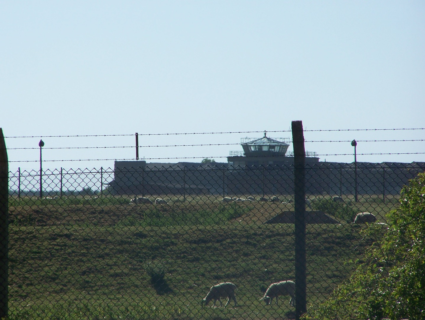 Rare Heavy Bomber Station control tower and Type C hangars viewed from east side 15:07:2006.JPG